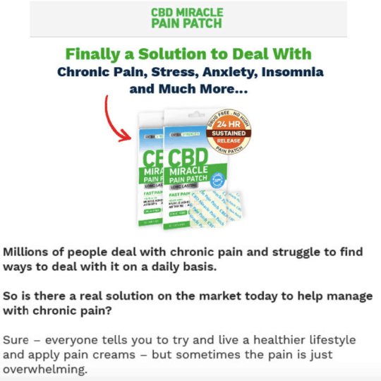 CBD Pain Patch Offer